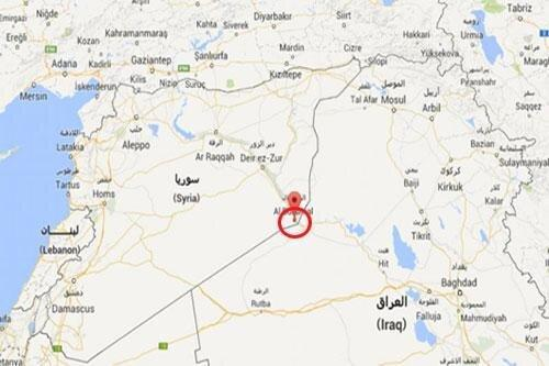 حمله هوایی به شهرک ابوکمال در مرز سوریه و عراق، حمله به پایگاه حشد شعبی در الانبار